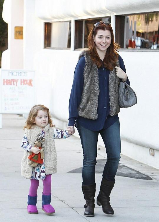 Alyson a její dcera Satyana.