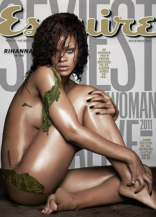 Nahá Rihanna na obálce magazínu Esquire.