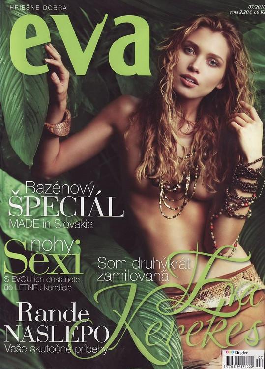 Hana ukázala ňadra i na titulu slovenského magazínu.