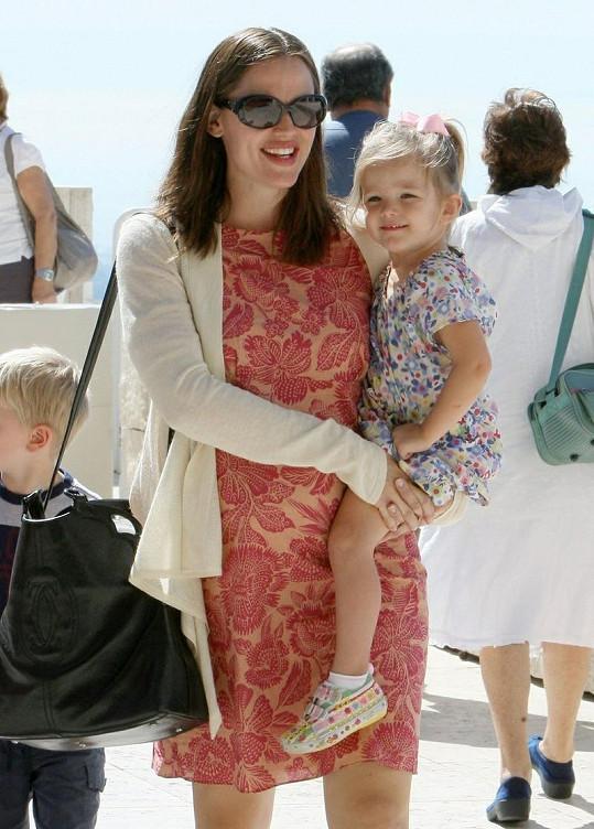 Jennifer Garner s mladší dcerkou Seraphinou.