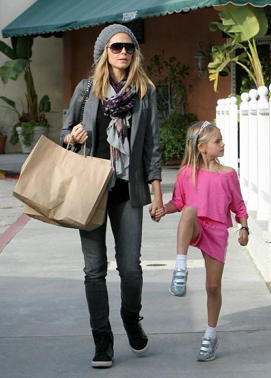 Leni a Heidi Klum v Santa Monice.