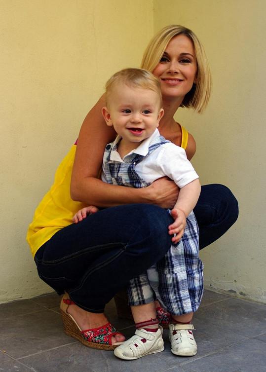 DJ Lucca se svým synem.