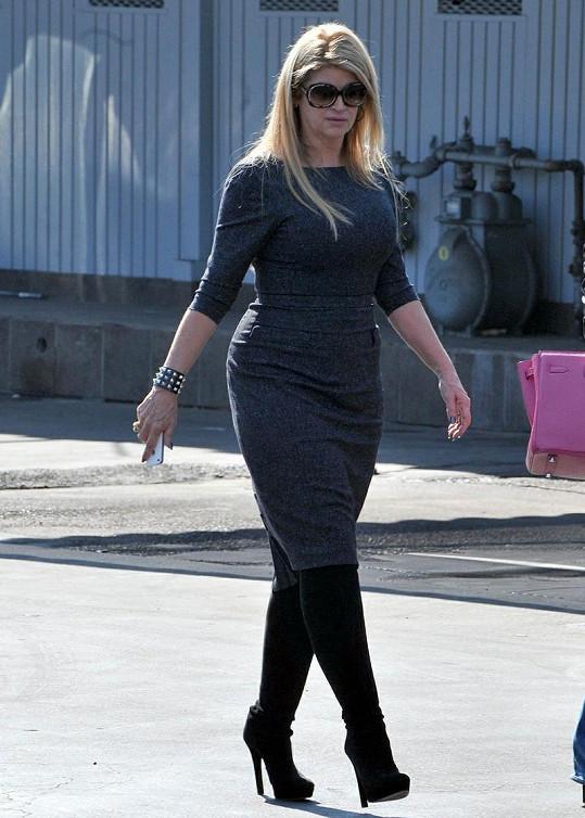 Kirstie Alley měla ještě na začátku roku o 45 kilogramů více.