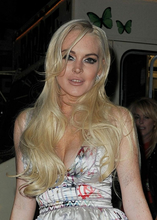 Herečka Lindsay Lohan