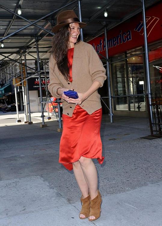 Fotografové zastihli herečku v New Yorku.