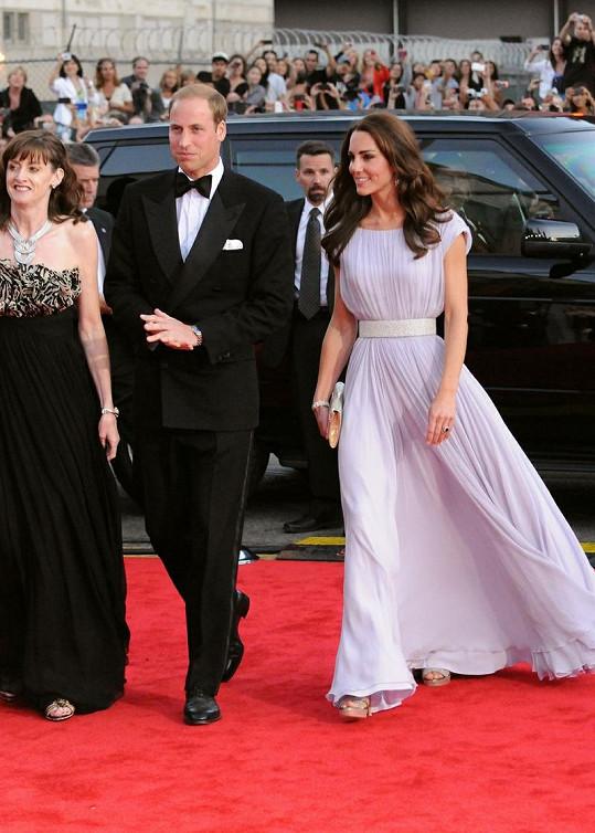 William s Kate na slavnostní večeři k příležitosti udílení filmových cen BAFTA.