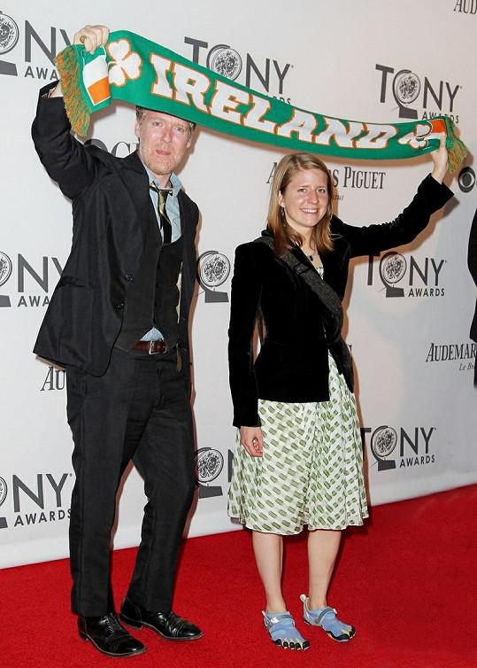 Markéta Irglová se svým bývalým partnerem Glenem Hansardem.