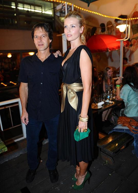 Daniela se svým mužem Palem Haberou.