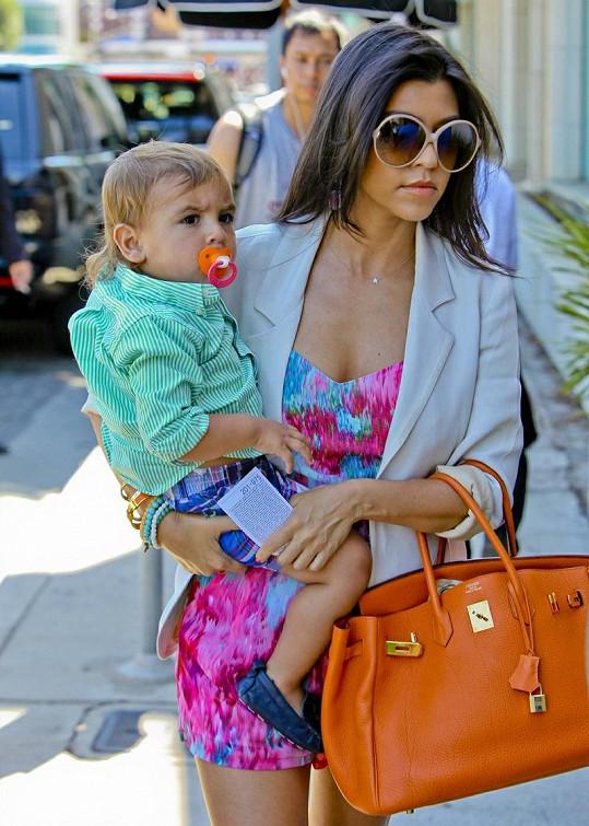 Kourtney Kardashian se synem Masonem.