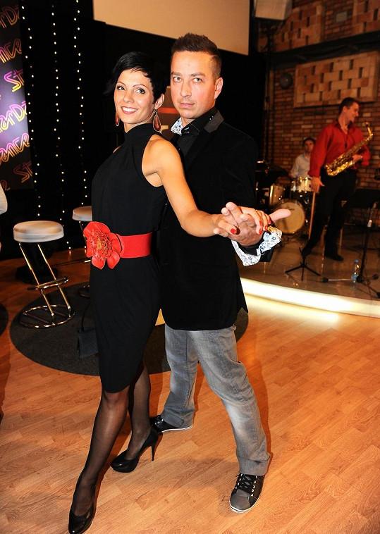 Betr Bende a jeho taneční partnerka Lucia Krnčanová na tiskovce.