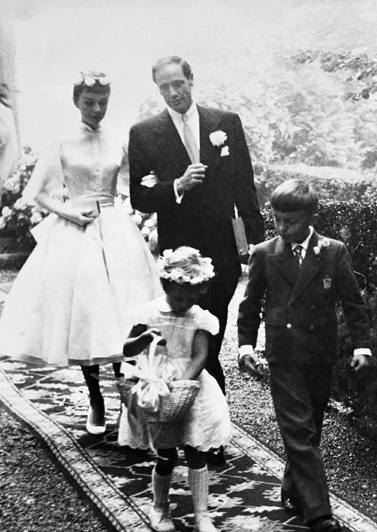 Audrey Hepburn ve svatebním.