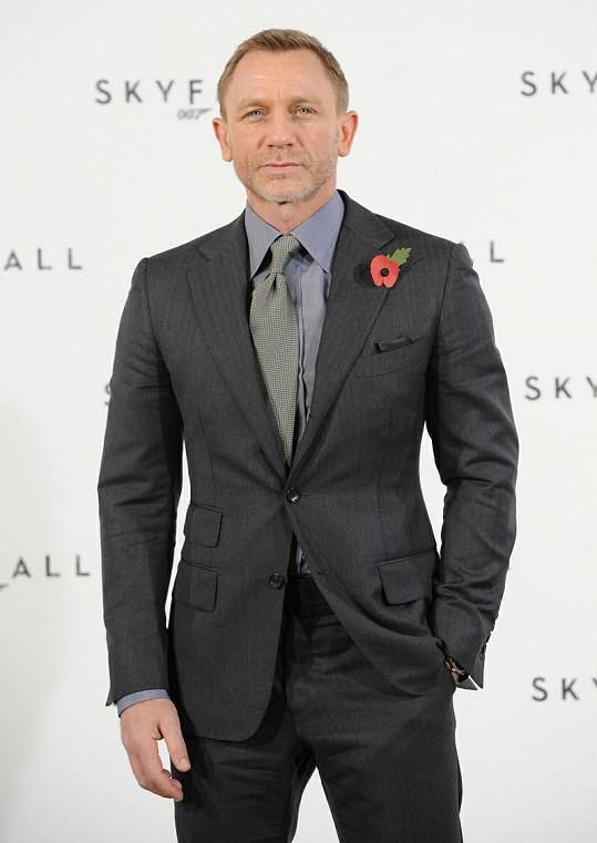 Představitel neohroženého agenta 007 Daniel Craig.