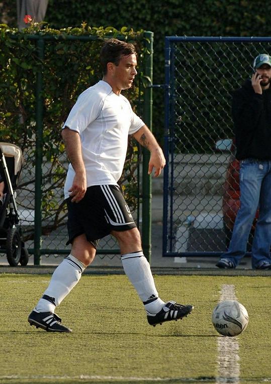 Robbie rozhodně nebýval takový atlet jako nyní.