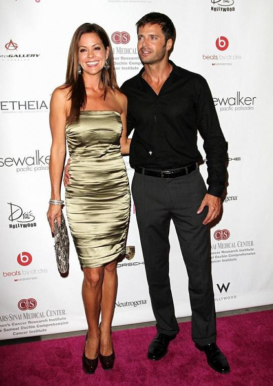 Brooke Burke se svým manželem Davidem Charvetem.