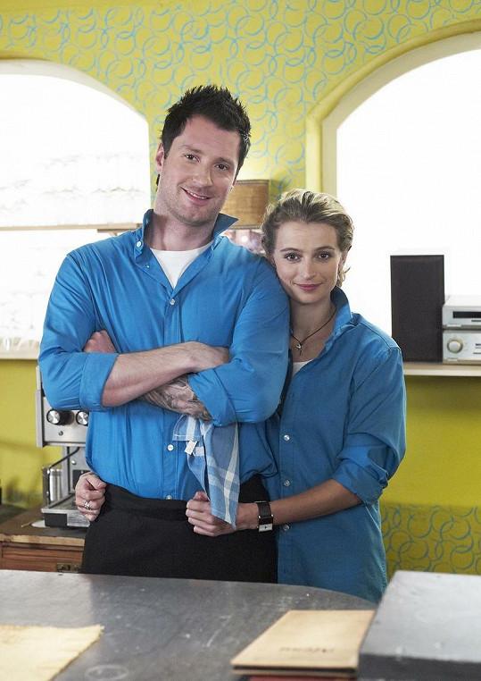 Petr Vágner se svou hereckou kolegyní Ivanou Jirešovou.