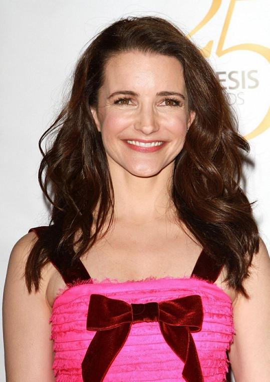 Krásná herečka prožívá šťastné chvíle.