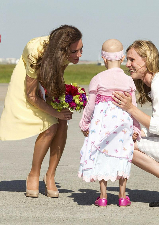 Malá Diamond byla šťastná, že se setkala s princeznou.