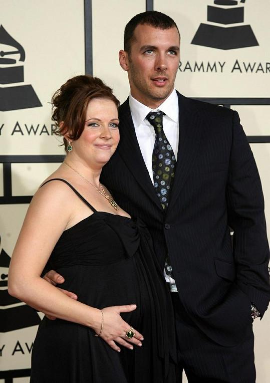 Těhotná Melissa s manželem Markem Wilkersonem