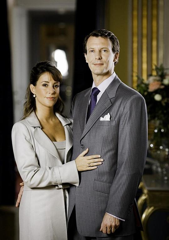 Princ Joachim se svou druhou manželkou Marií.