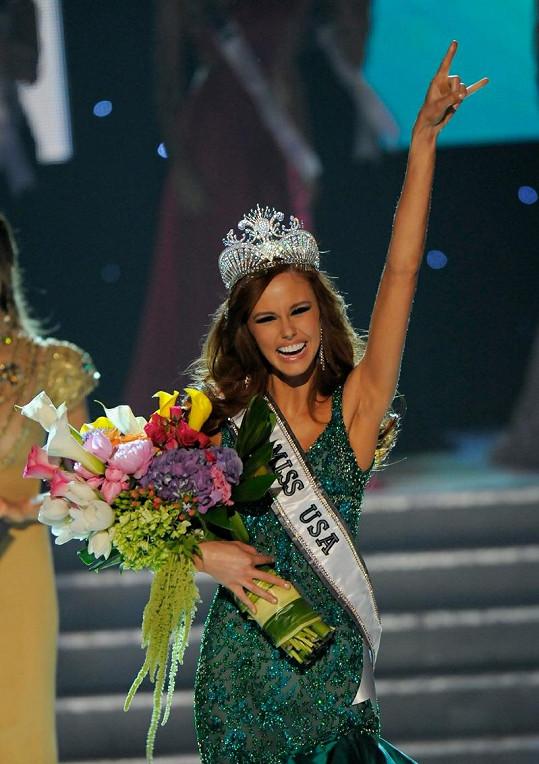 Nová Miss USA po korunovaci neskrývala nadšení.