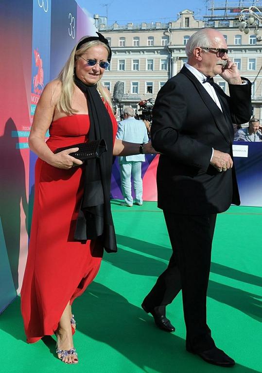 Taťána s manželem Nikitou Michalkovem.