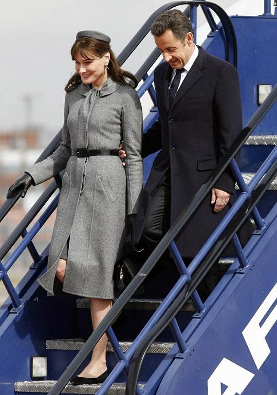 Carla Bruni a Nicolas Sarkozy.