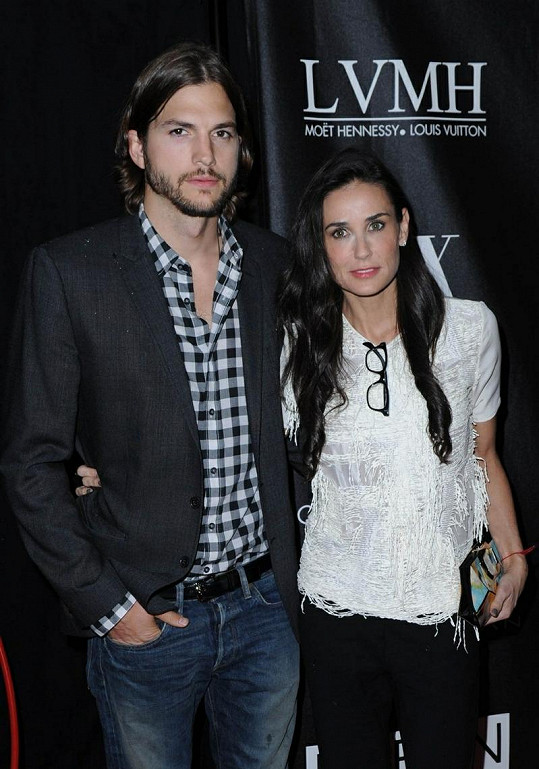 Ashton Kutcher a Demi Moore.