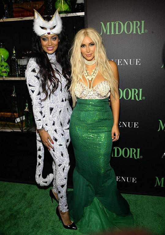 Kim na párty s herečkou a moderátorkou Lalou Vazquez Anthony.