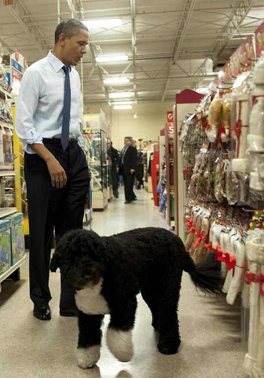 Prezident se nemohl rozhodnout, co svému miláčkovi koupit.
