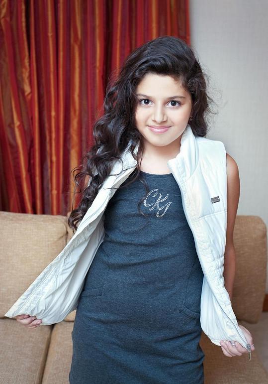 Dianka v nové kampani na dětskou módu.