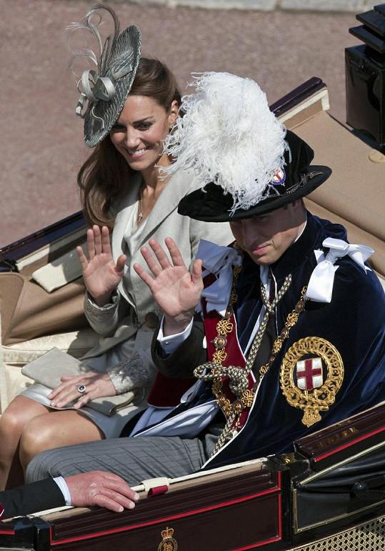 Vévoda a vévodkyně z Cambridge.