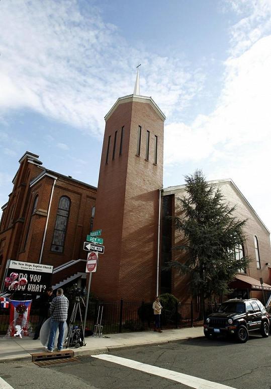 Baptistický kostel v Newarku, kde měla Whitney pohřeb.