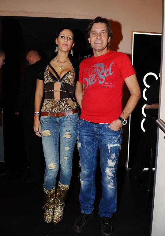 Martin Pouva s přítelkyní Petrou.