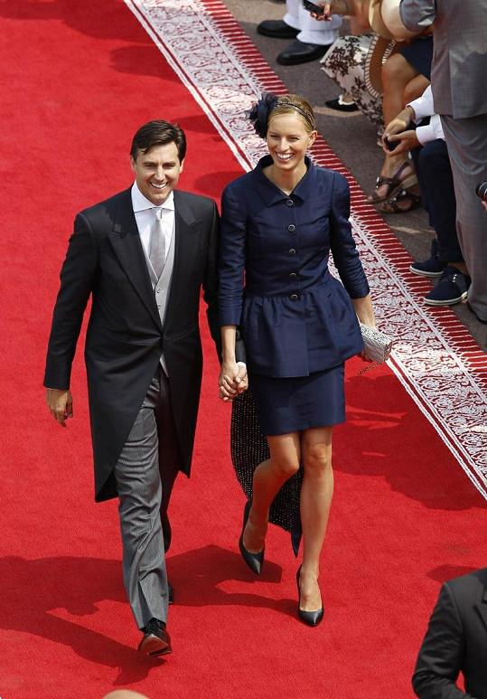 Karolína Kurková s přítelem v Monaku.