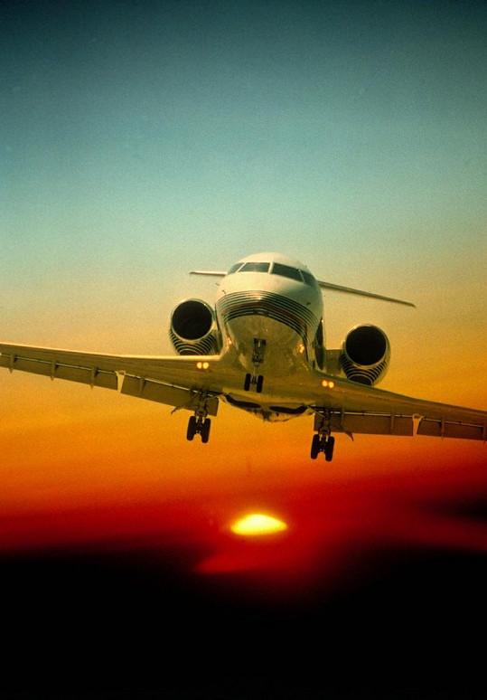 Letadlo Bombardier Challenger 601.