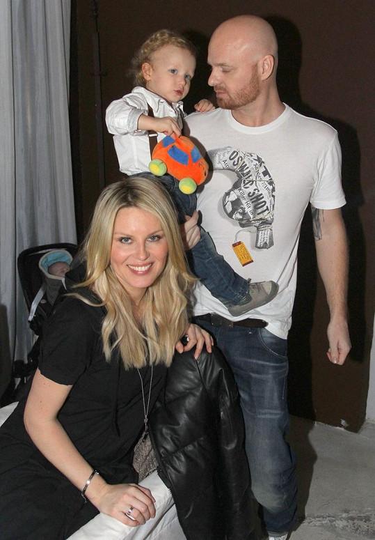 Simona Krainová dorazila s rodinkou na narozeniny syna Gábiny Partyšové Kristiana.