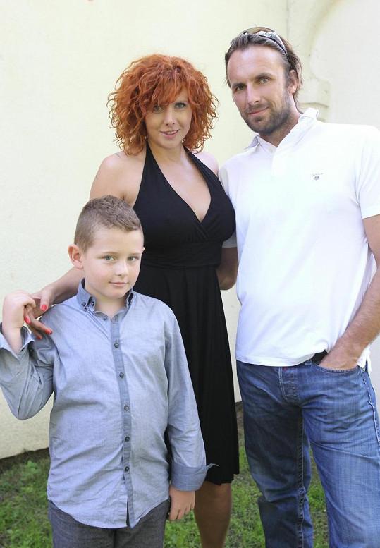 Štěpánka Decastelo s expartnerem a synem.