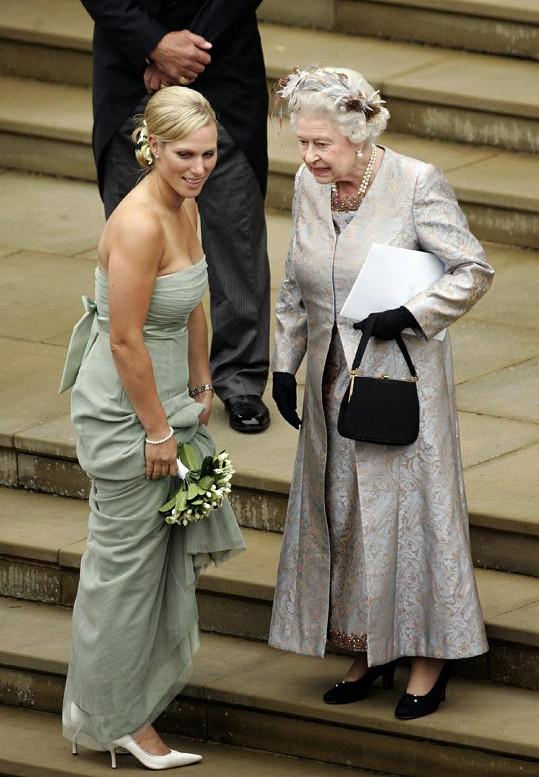 Zara Phillips se svou babičkou Alžbětou II.