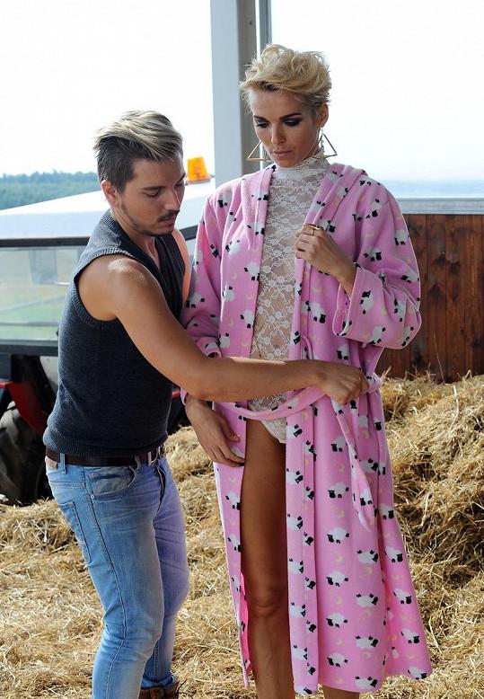 Mašlíková a stylista Filip Sam Dolce.