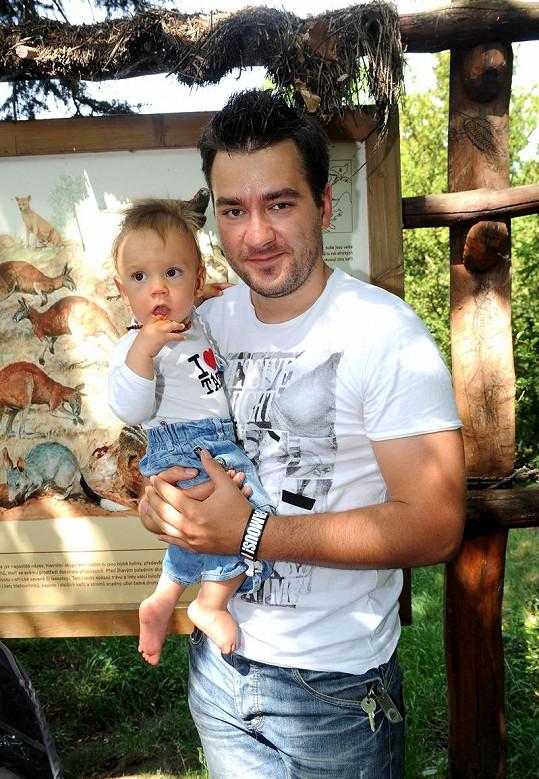 Marek Ztracený se synem Marečkem během návštěvy zoologické zahrady před dvěma lety