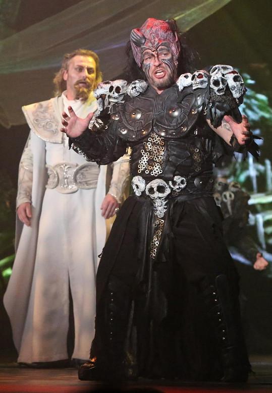 Petr Kolář v roli krále skřetů.