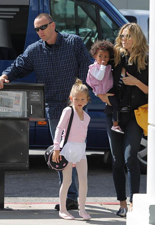 Heidi Klum s Martinem Kirstenem a jejími dětmi.