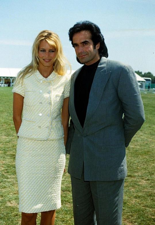 David Copperfield chodil šest let i s německou topmodelkou Claudií Schiffer. Rozešli se v roce 1999.