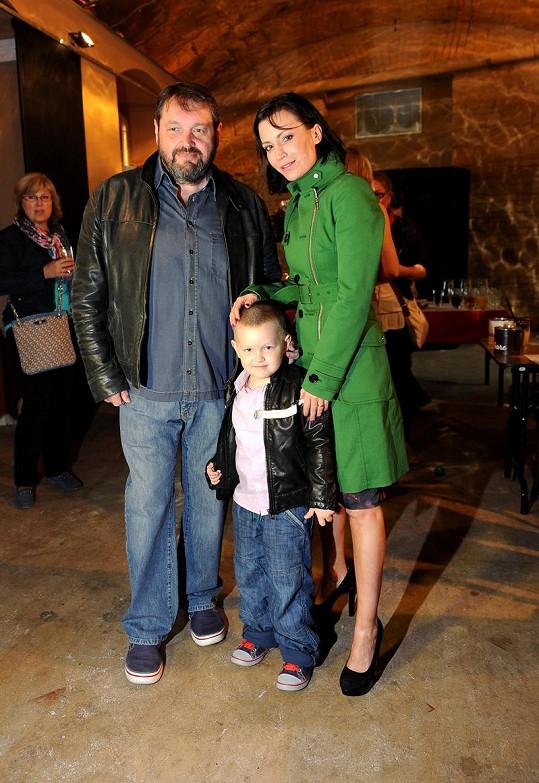Gábina Partyšová se stále ještě manželem a synem Kristianem.