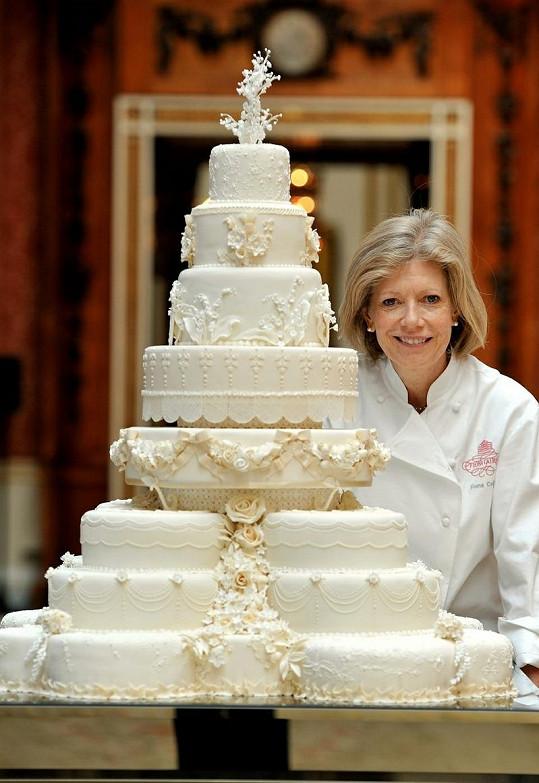 Svatební dort Williama a Kate a jeho autorka Fiona Cairns.