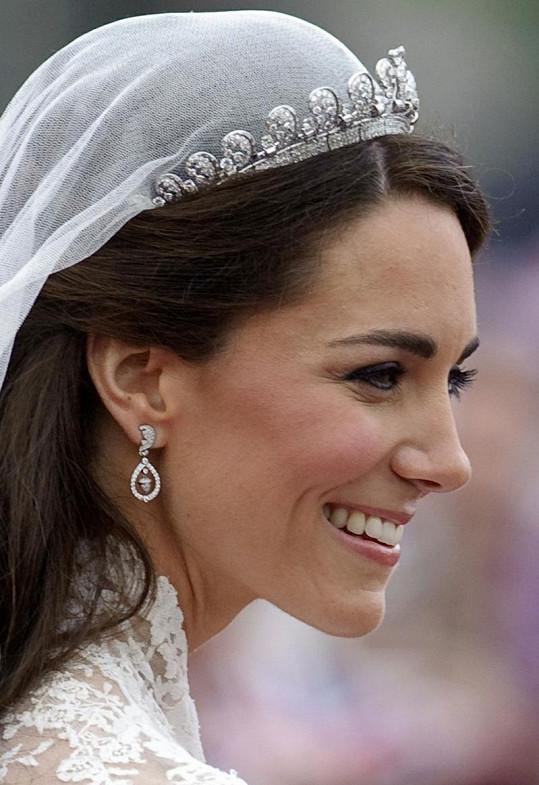 Kate se postarala i o svůj svatební make-up. Její oblíbené linky nemohly chybět.