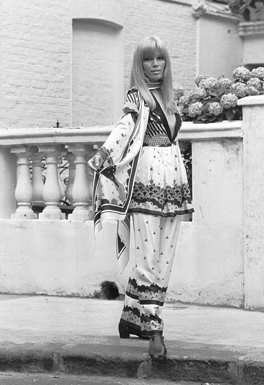 Lear jako modelka v roce 1968.