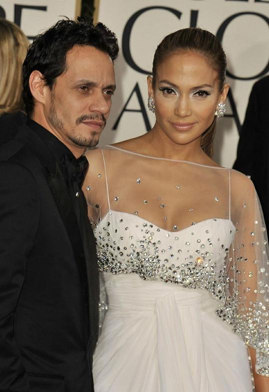 Jennifer Lopez a Marc Anthony v době, kdy byli ještě spolu.