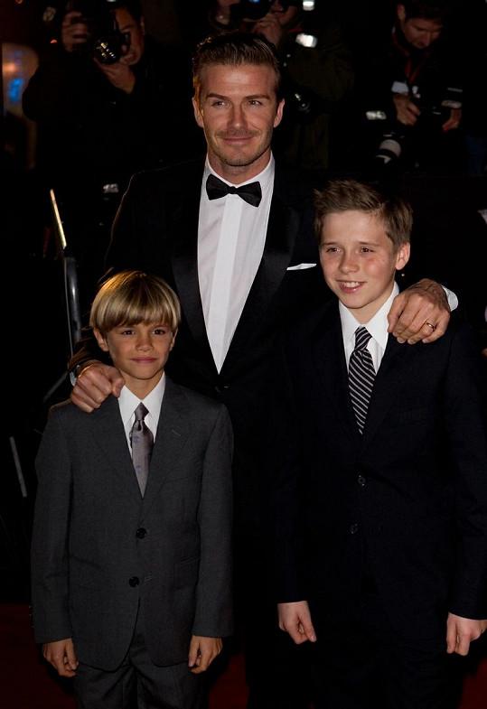 David Beckham se syny.