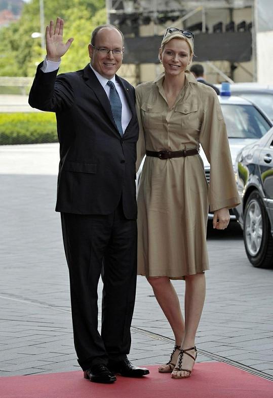 Kníže Albert II. s kněžnou Charlène.